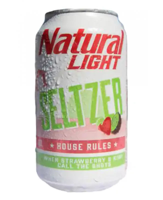 Natural Light Seltzer House Rules Strawberry & Kiwi Cans 2/12pk