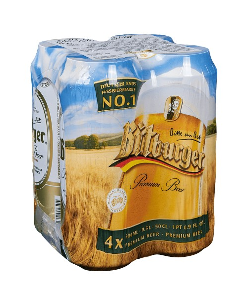 Bitburger Can 16.9oz 4pk