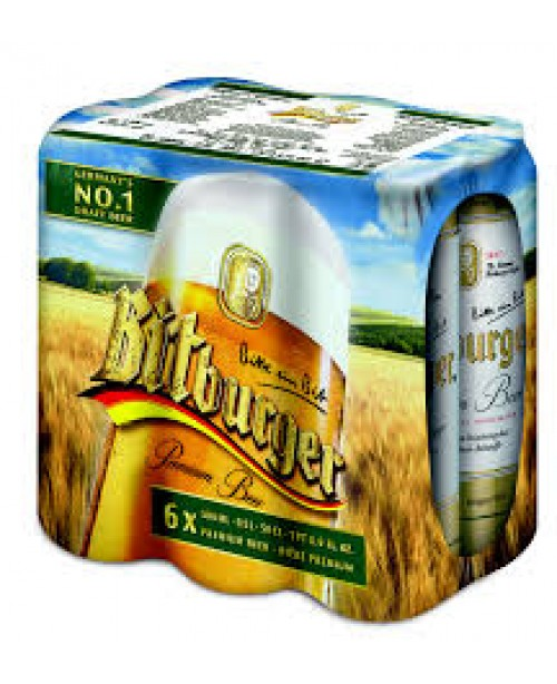 Bitburger Can 16.9oz 6/4pk